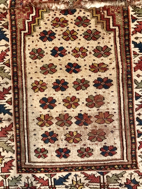 Manastir Balkan prayer rug, damaged