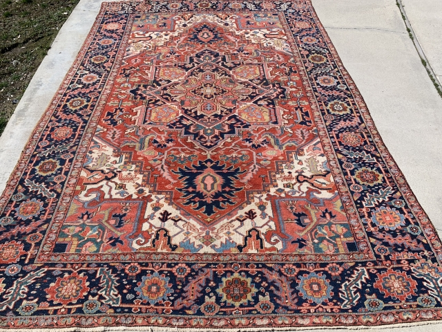 8'x 12' 1920's Persian Heriz...good condition...$2,995.00 plus shipping.