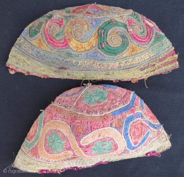 Antique Turkmen yamut and chodor hats, www.eymen.com.tr