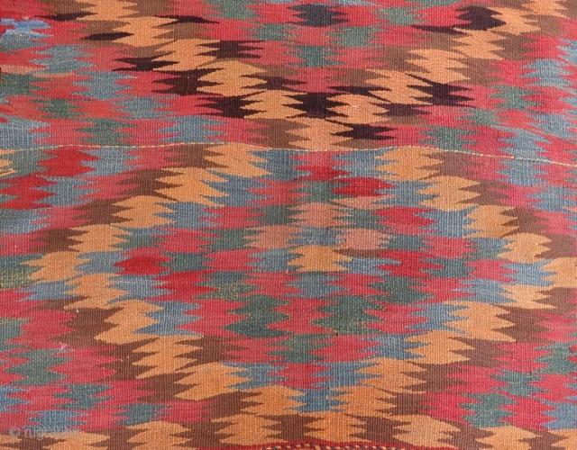 Persian veramin kilim,215 x 118 cm