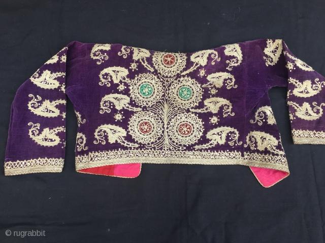 Ottoman Jacket,silver embroidery on velvet,140 x 40 cm  www.eymen.com.tr