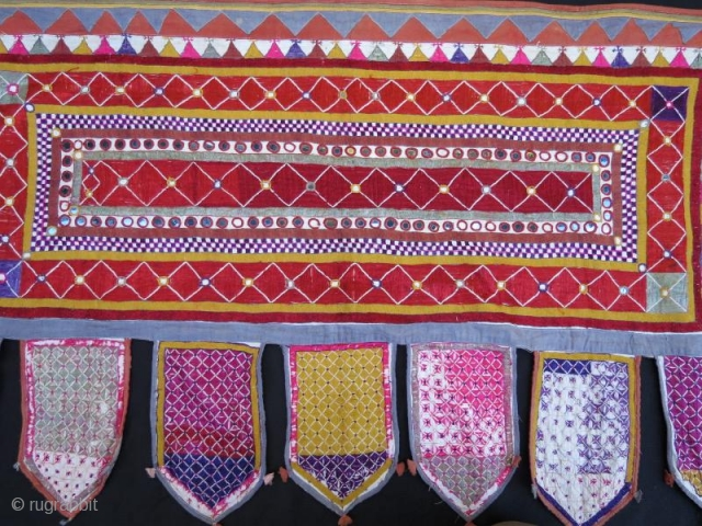 Mirrored Indian Tribal Silk Embroidery . Walance Panel for your Wall Hanging. www.eymen.com.tr