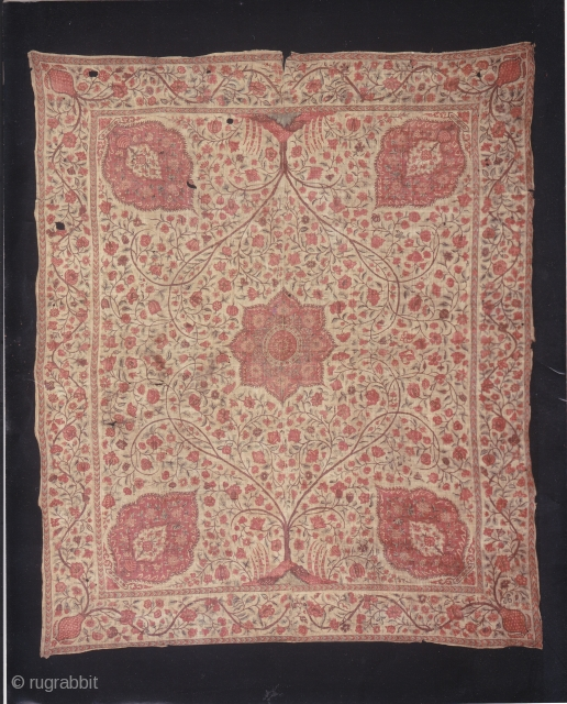 Indian trade textiles 007 -Coromandel coast, ceremonial cloth and sacred heirloom traded to Indonesia, 18th century, beautiful colors some small damages. Price on request.