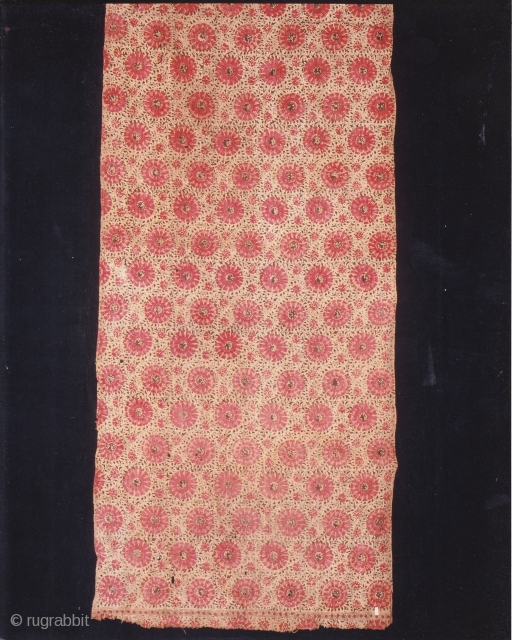Indian Trade textiles 014, Basta, Blockprints, For the Indonesian market, plays important role as a ceremonial cloth, early 19th century, good condition. Price on request.