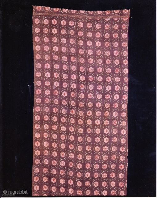 Indian Trade textiles 008; Basta, Block-prints, For the Indonesian market, plays important role as a ceremonial cloth, early 19th century, good condition. Price on request.