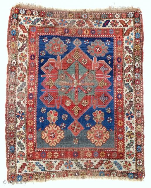 Rare Armenian Karabagh Kazak rug. Circa 1850-70.