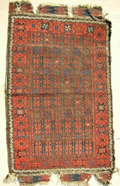 Seljuk inspired Baluch small rug. C. 1870.
