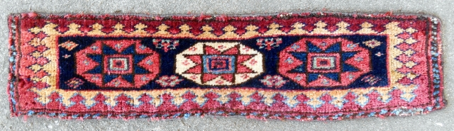 "Rare Southwest Persian pile ""spoon"" bagface/trapping (23""x 6""). 19th c. Very good condition."