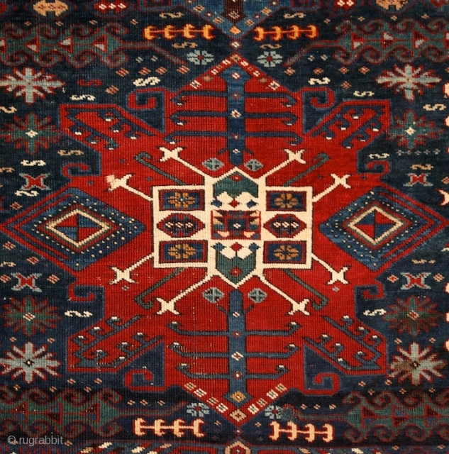 """When I have a terrible need of - shall I say the word - religion. Then I go out and paint the stars."" Vincent Van Gogh  Kuba rug with unusual design,  ..."