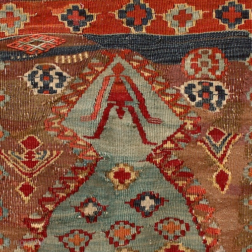 """""""Settle into mystery as you would settle into your most comfortable chair. Listen. Have visions. Lose yourself."""" Eric Maisel Prayer kilim, Konya region / Central Anatolia, mid 19th century. ex Klaus Franz  ..."""