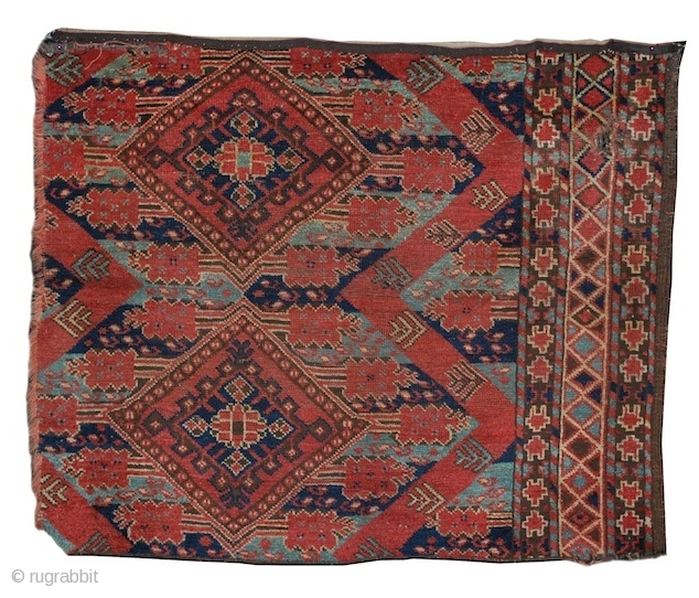 "Bashir Turkmen fragment, Middle Amu Darya region, mid 19th cen.  1'10""x3'3""  Inv# 16976    http://www.peterpap.com/rugDetail.cfm?rugID=16976"