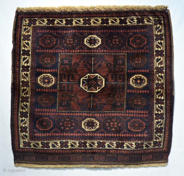 Beluch bagface with beautiful design. All natural colors and great condition. the piece is from around 19 jh. Size:79 x 77 cm