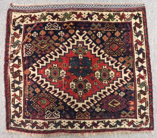 Antique Qasgqai Bagface Size.58x50cm