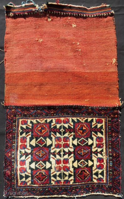 Antique Persian Kurdish Bagface Size.66x50 Cm