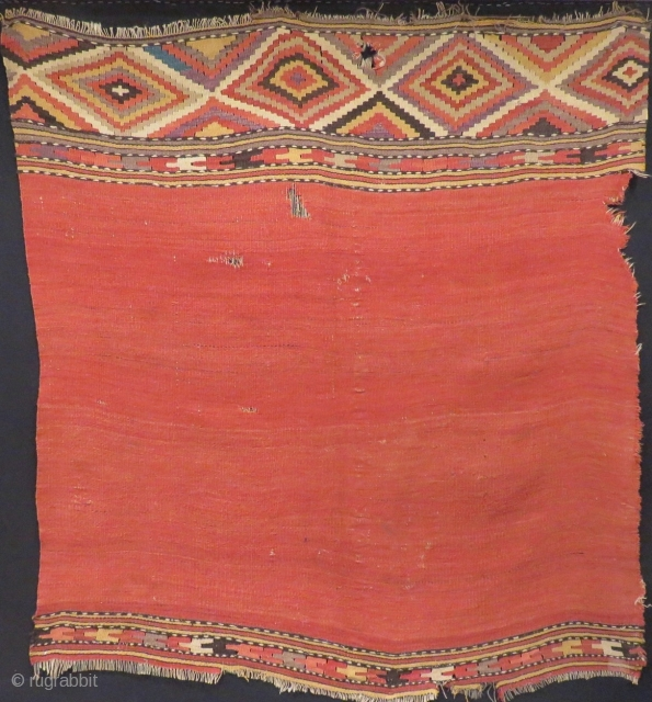 Early 19th Century Anatolian Fethiye Kilim Fragment Size.146x128cm