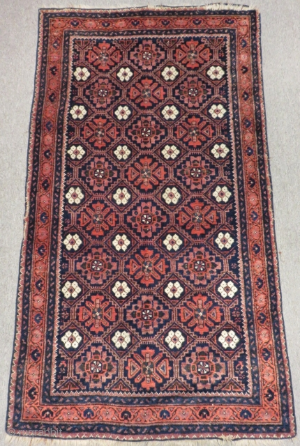 Antique Baluch The Rug has a cut on the border Size 150x83cm
