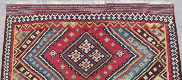 Antique Qashqaii Kilim Size.245x180 Cm