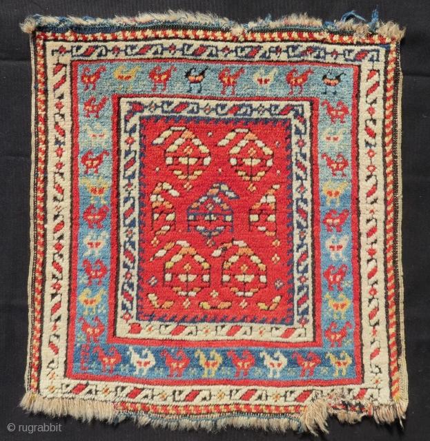 Antique Caucasian Genje Bagface Size.44x43cm