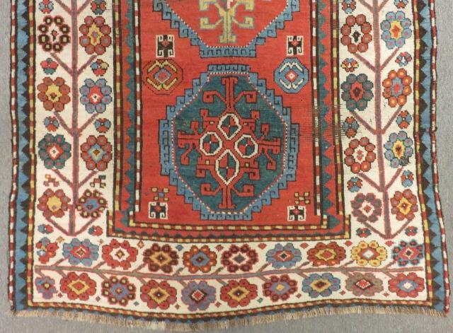 Antique Caucasian Calabert Rug Size.240x126 Cm