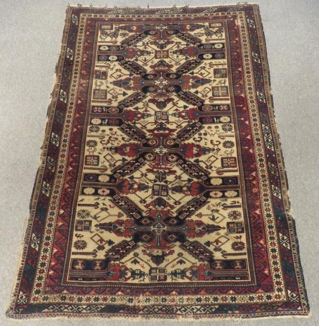 Antique Caucasian Sirvan Zeyhur Rug Size.200x136cm