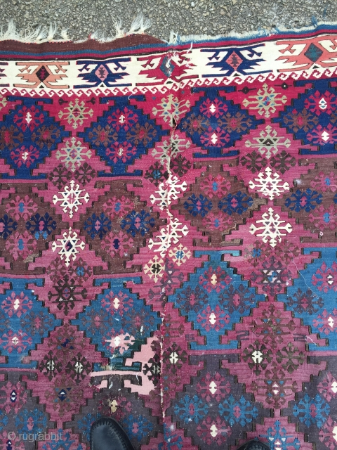 South East Anatolian Curtain Kilim   Aleppo Circa 1880