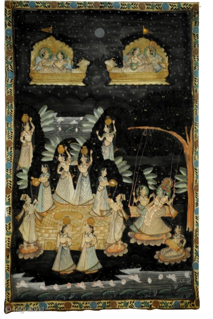 Pichavai, painting on silk from India. 