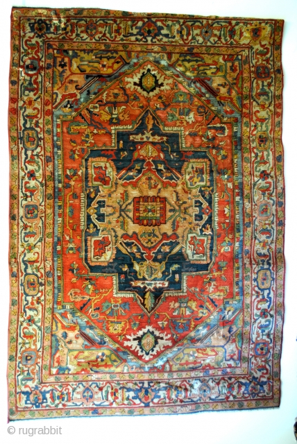 Arraiolos, Portugal, 19th Century embroided rug. 