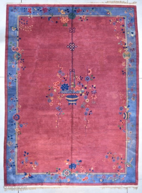 #7731 Antique Mandarin Chinese Art Deco Rug 10'0″ X 13'6″
