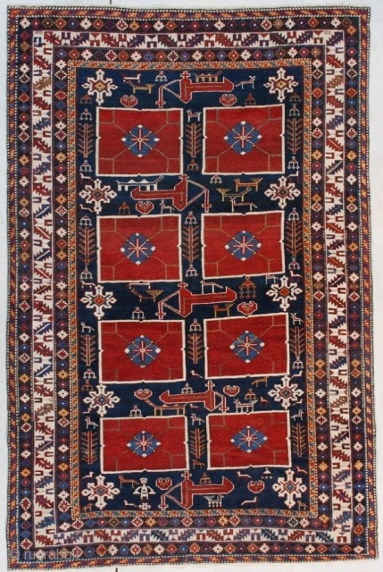 #7528 Karagashli Antique Caucasian Rug