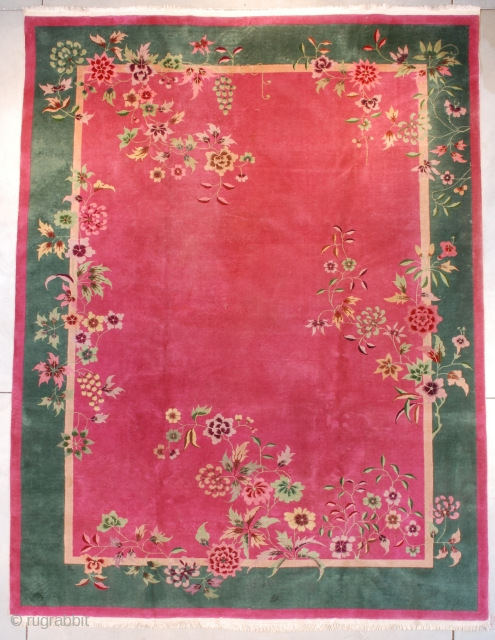 #7662 Art Deco Chinese Oriental Rug