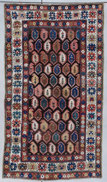 #7320 antique Kazak Rug