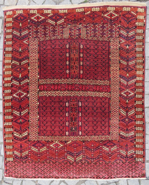 Turkoman Yamud Engsi rug very nice colors and excellent condition all original Circa 1900-1910 #antiquerugs #antiquecarpets #antiquekilims #decorative #decoration #homedecoration #vintage #largecollection #silk #hereke #rareitems #luxurylifestyle #luxury  #shoppinginistanbul #investment #kapilicarsi #oldestshop  ...