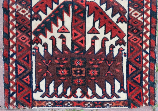Turkoman tent band fragman very nice colors size 1,10 x 41 cm Circa 1900