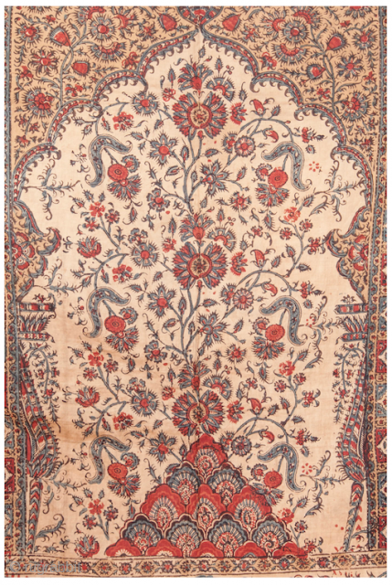 Qalamkari textile. See it at Arts: Antique Rug and Textile Show!