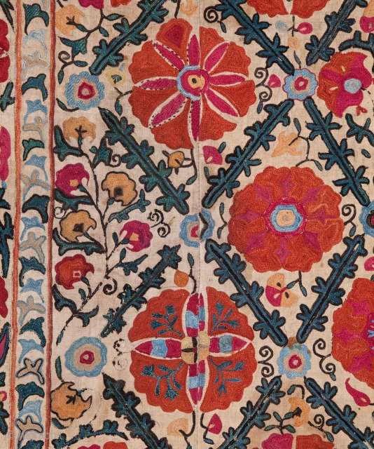 Uzbek Bukhara Suzani 154 x 243 cm /5'0'' x 7'11''