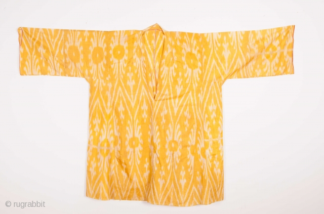 Central Asian Uzbek Silk Ikat Shirt