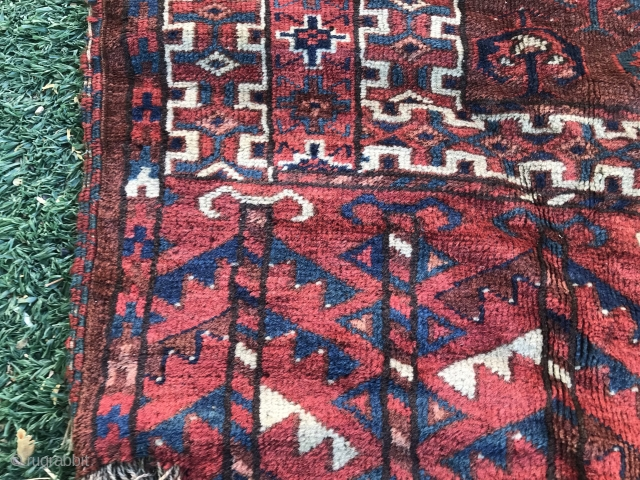 Antique, Turkmen Ensi Rug Size.165 X90cm.