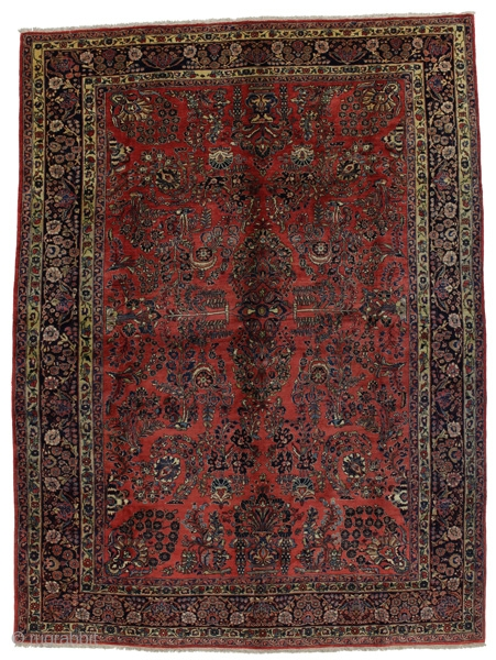 "Sarouk Persian Carpet 11'5""x8'8""(350x265cm) See more details here: https://www.carpetu2.com/id/cls005-898/Persian,Classic,Antiques,Offers,Popular,Sarouk,/?lan=int"
