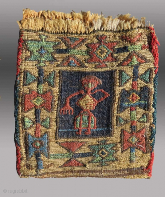 "Shahsevan ""Chanteh"" (personal bag), NW Persia/Azerbaijan(?), 19th C.,  6"" x 8""