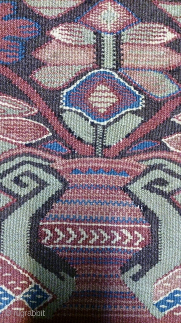 Antique Norwegian kilim, no: 295, size: 51*59cm, wall hangings.