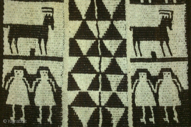 Antique Peru or Bolivia(3 piece), no: 165, size: 97*34cm, pictorial design, wool on wool, wall hangings.