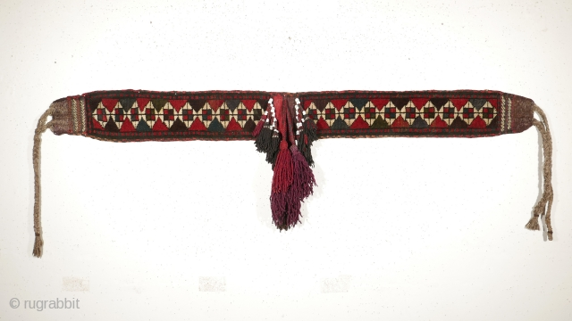 # 1119 Baluch Horse Decoration, 16/160 cm (without tassels), Khorasan, mid 20th century, nice colours, in very good condition!