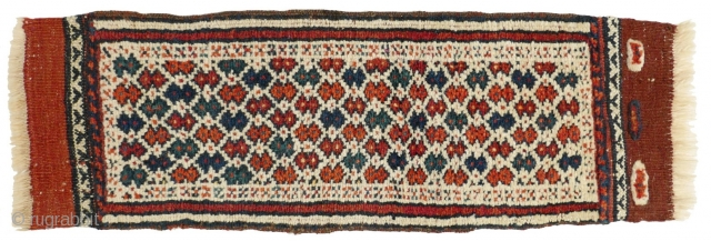 This is one highlight of our Advent Bazaar 2018: 1153 Rare Kordi Galubande (camel neck band) without tassels, 20/60 cm, Khorasan, early 20th century, finely knotted, in very good condition! For a  ...
