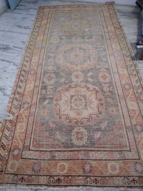 20th century Khotan, East Turkestan  rug