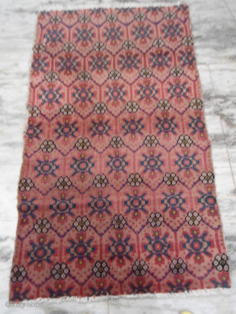 semi-antique Tibetan woolen rug