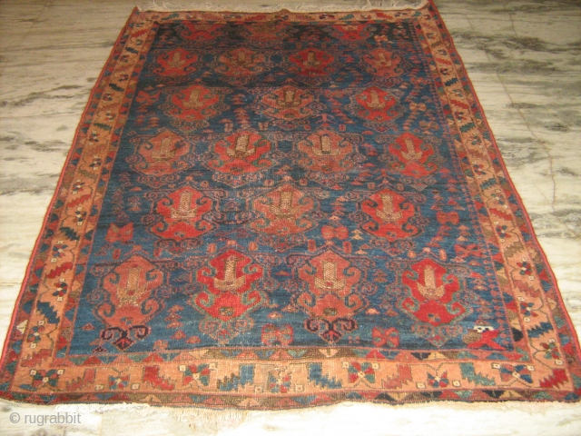 19th C Persian Afshar rug 6'x4'   Any offers welcome full pile. some little restorations done in the central feild.