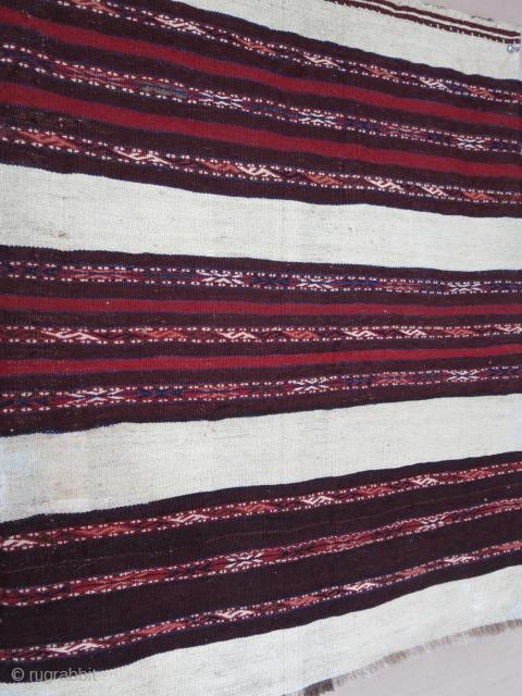 "Turkmen Chuval face, all wool, natural colors. Circa 1920-1930. Size : 33"" X 27"" --87 cm X 69 cm"
