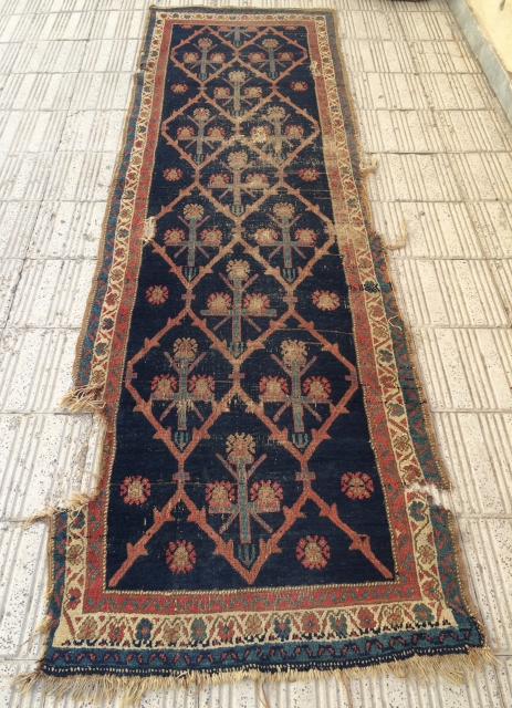 Persian Kurdish Carpet size 300x94cmö