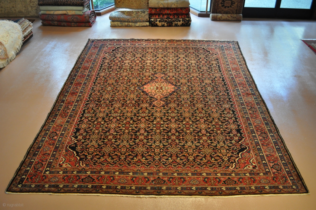 Circa 1900 Handmade Vintage Persian Rug