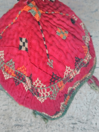 Turkmen hat chodor 20th century silk embroidery